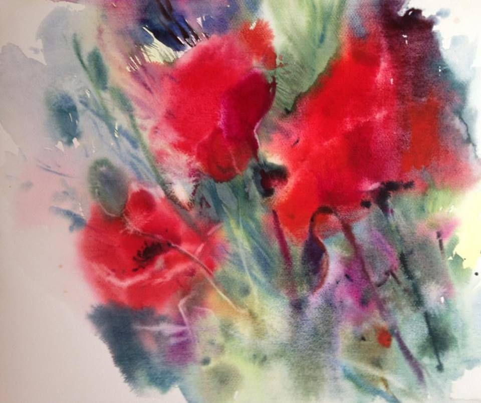 Pin Ot Polzovatelya Lu Na Doske Akvarel Natyurmort Akvarel I