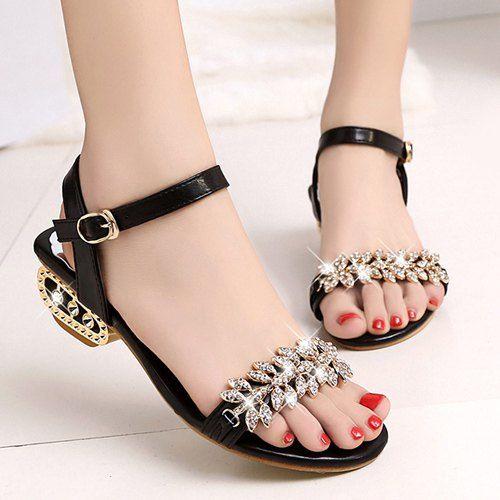13.14 Fashion Women s Sandals With Rhinestone and Buckle Design b2a19baacf20