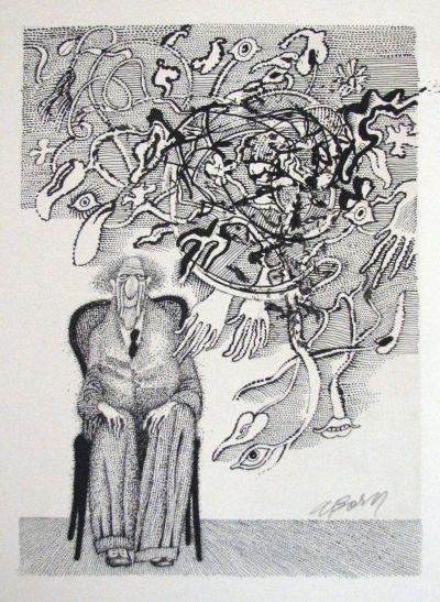 Adolf Born 1930 Vice O Autorovi Vetrne Dcery More Kresba Tusi 60