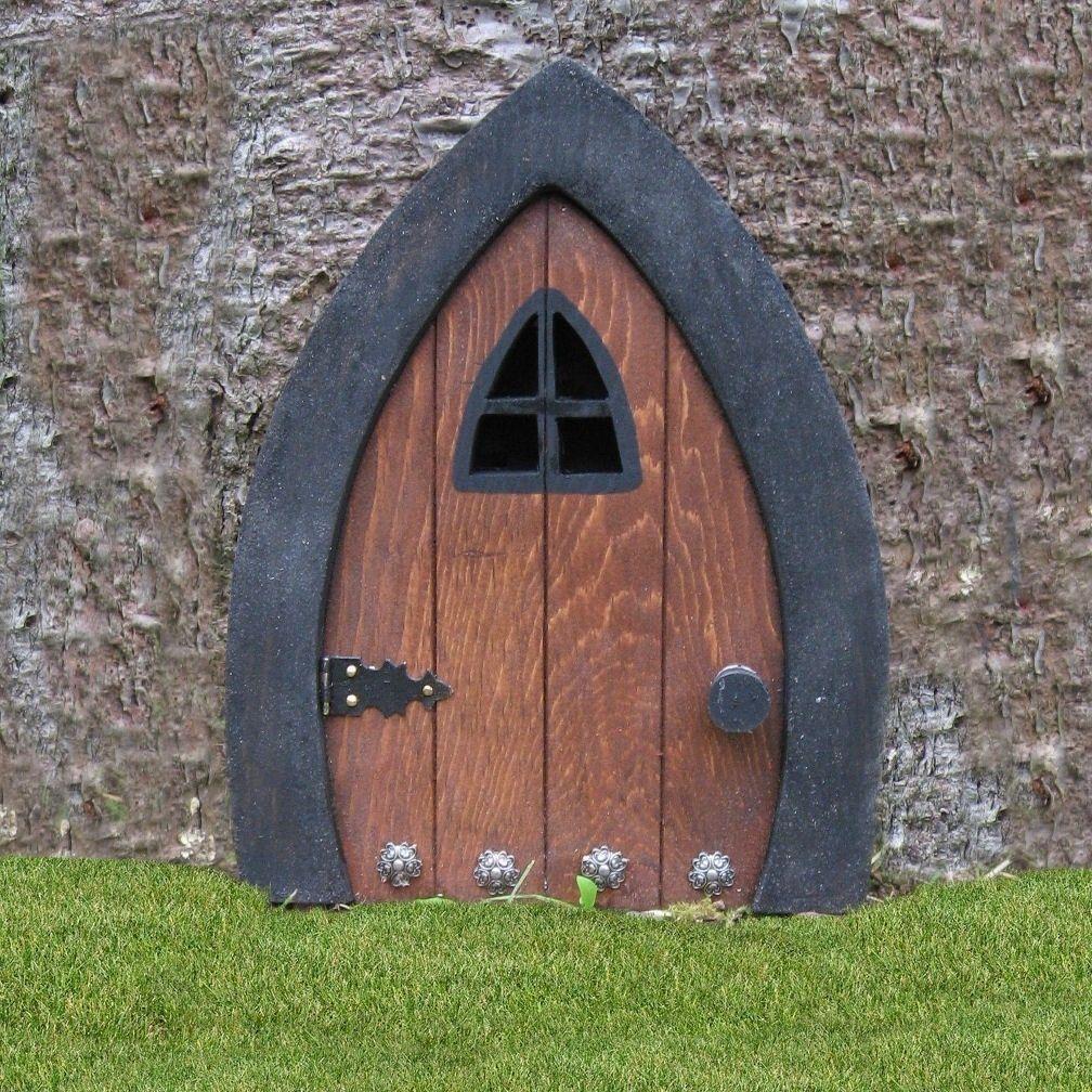 Gnome doors fairy doors faerie doors elf doors 9 inch for Fairy front door