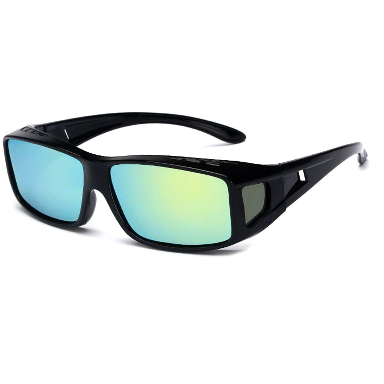 f554f407196d POLARIZED Rhinestone Lens Fitover Fits Over Sunglasses Cover Oval Frame  Anti Glare For Men Women Unisex