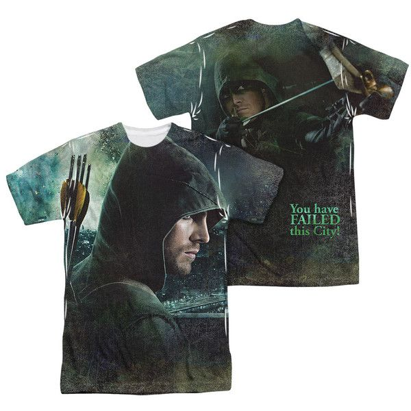 Arrow TV Series Superhero Costume 2-Sided Sublimation Print Poly Shirt S-3XL