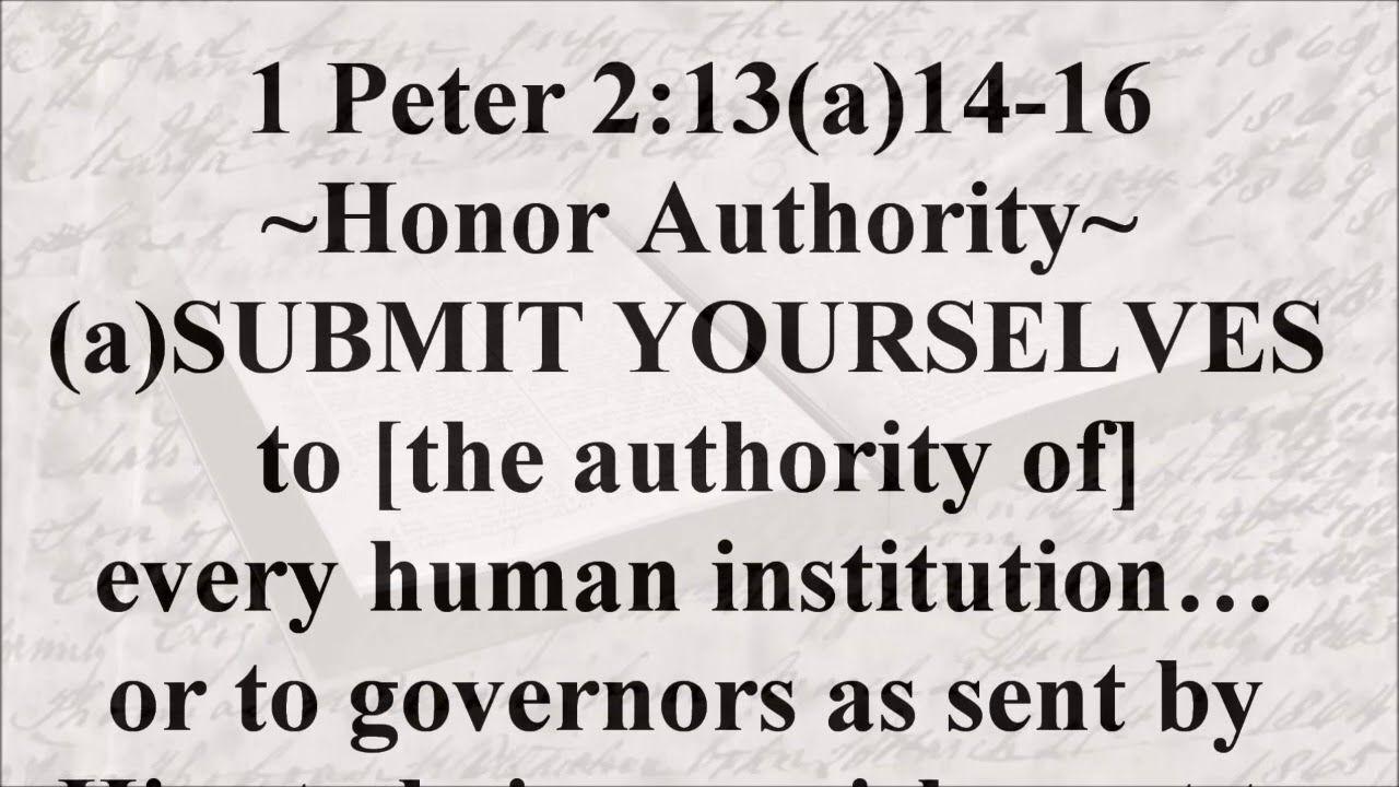 Nov. 13, 2018 1 Peter 213(a)1416 1st peter 2, 1