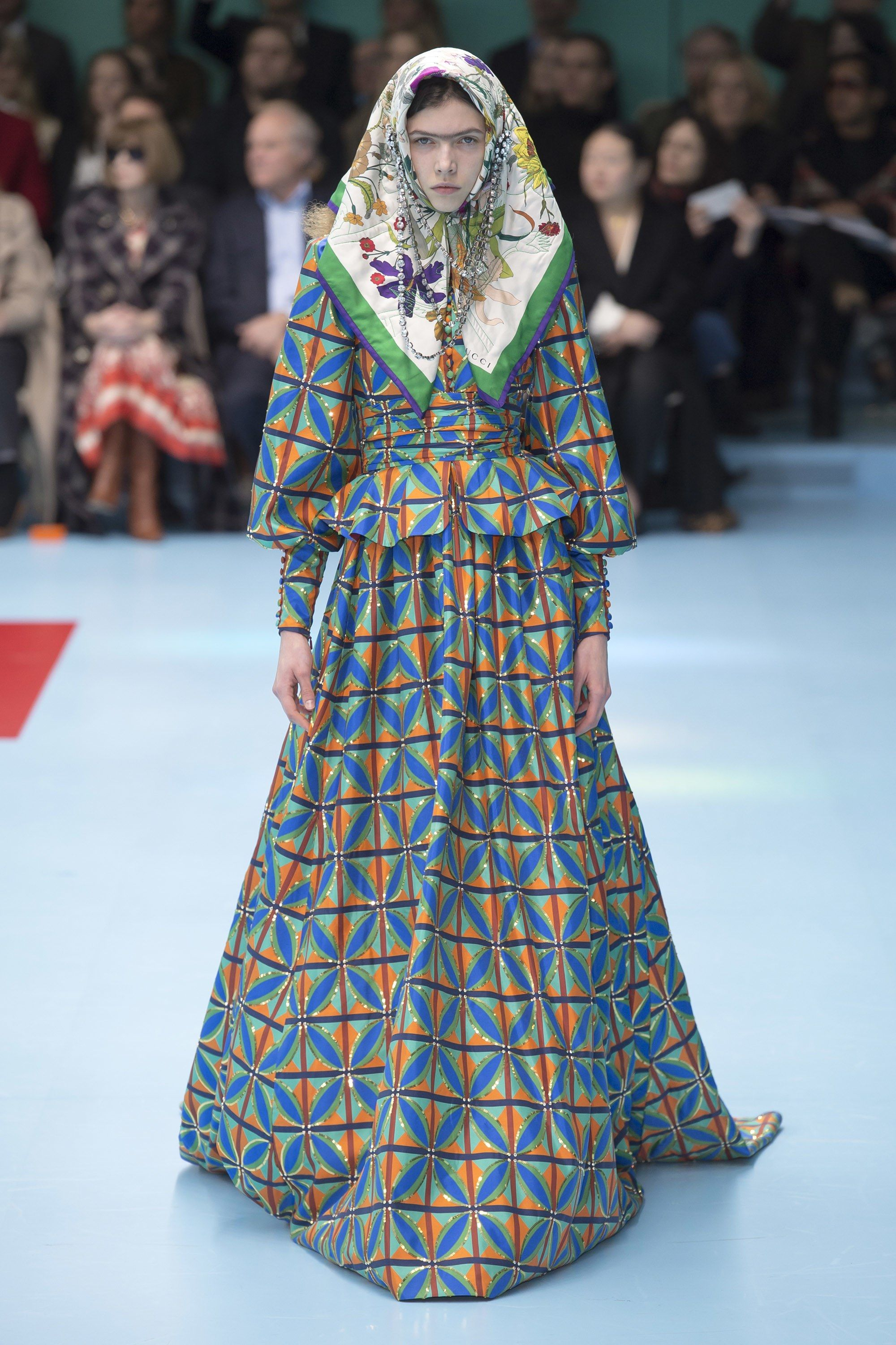 7a52f2a696eb Gucci Fall 2018 Ready-to-Wear Fashion Show | Prints from Fall 2018 ...