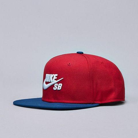 Nike SB Icon Pro Snapback Gym Red / White