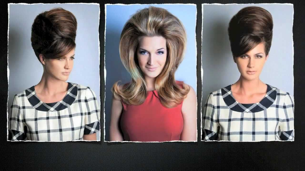 60s Beehive Bouffant Hair Via Youtube Big Hair Retro Vintage