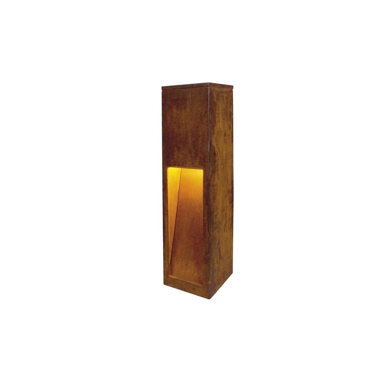 Slv Lighting Rusty Slot 50 Bollard Fixture Iron Rusted Brown