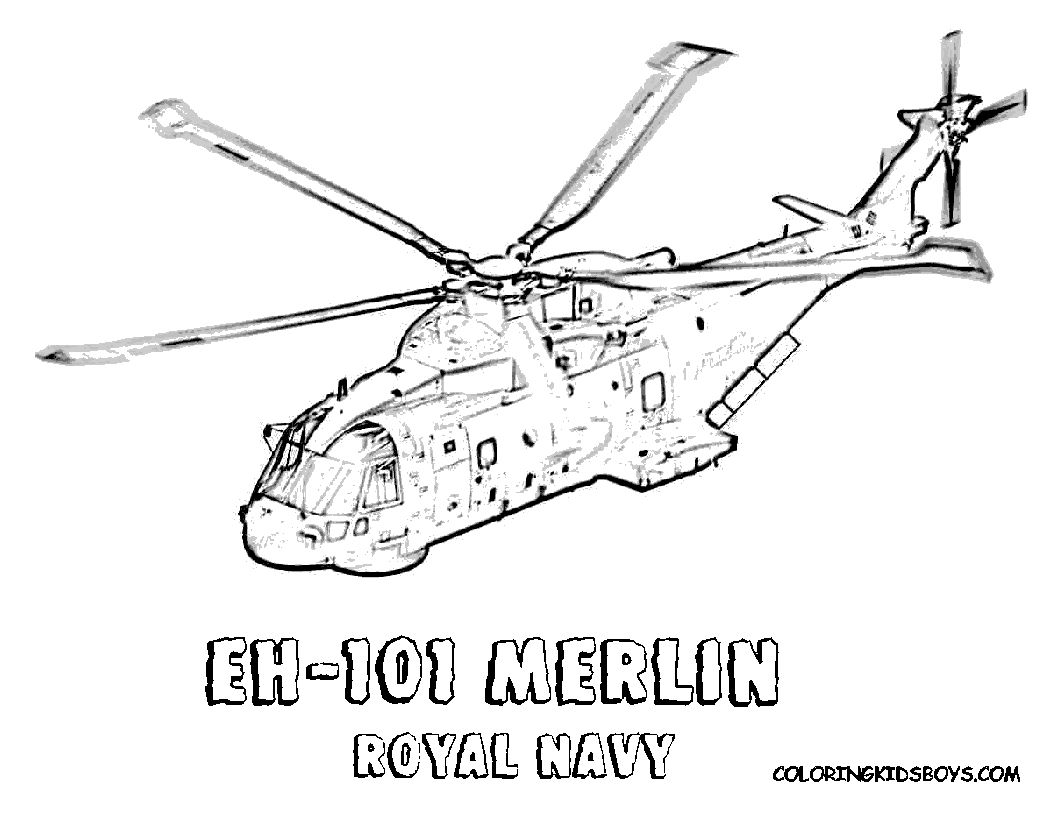 Image From Scoloring Images 14 Helicopter