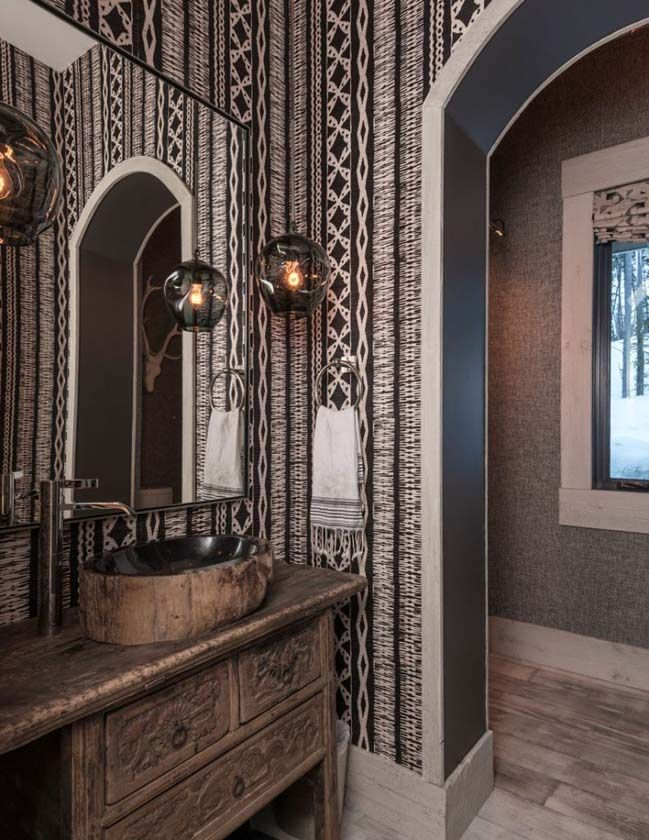Luxury mountain house with rustic and zen interiors Zen interiors