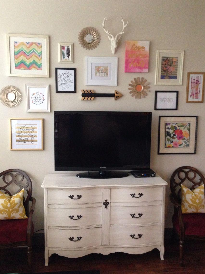 Gallery Wall Around Tv Liz Aubuchon Home Pinterest