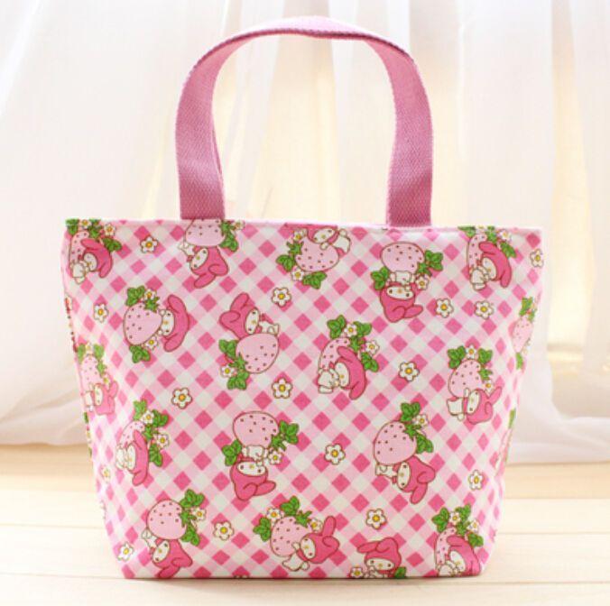 a2f5e5ed9f My Melody Pink Bowknot Handbag Tote Lunch Bag Storage Bags U247 Cute ...