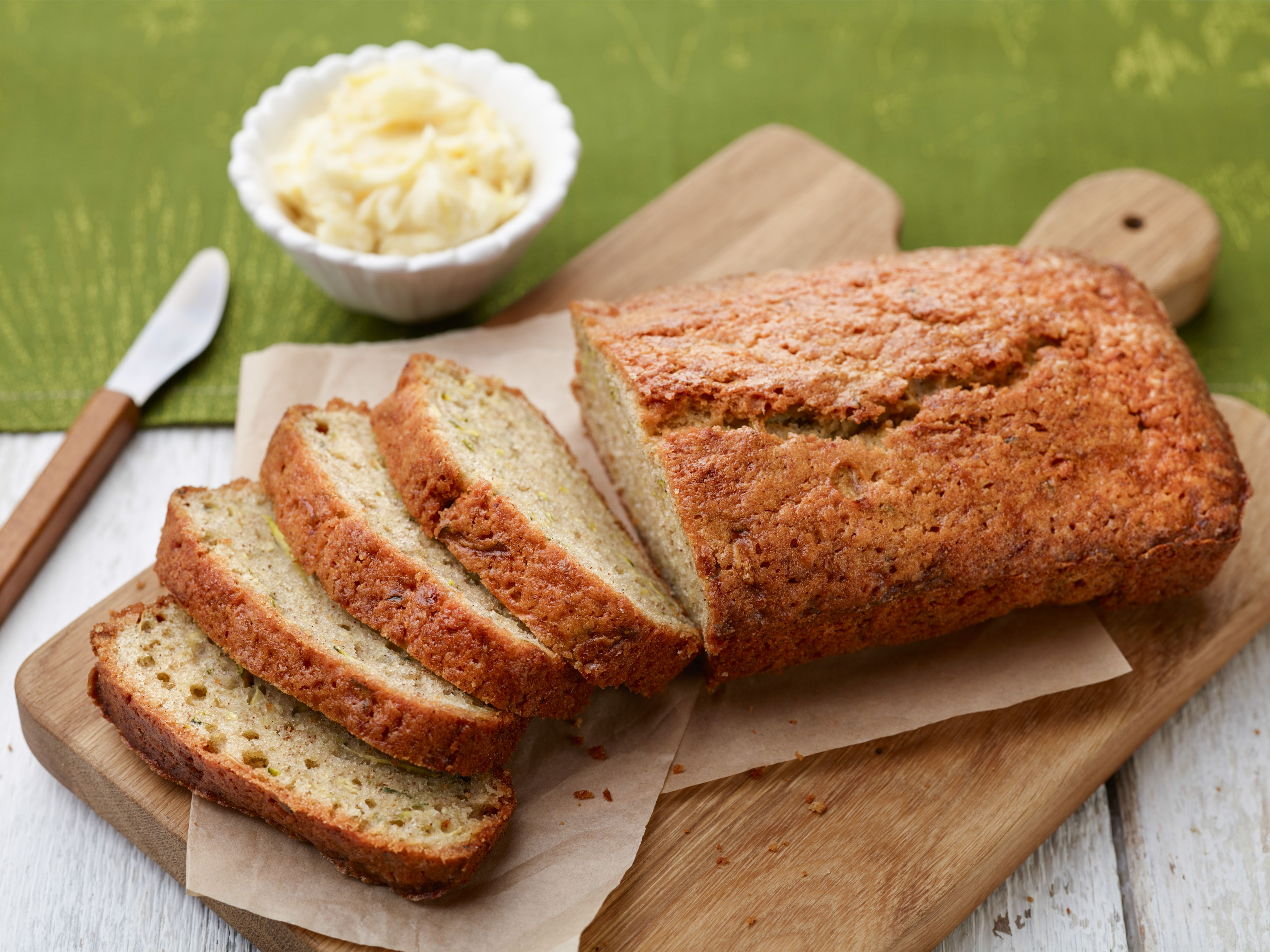 Zucchini bread with lemon honey butter recipe honey butter zucchini bread with lemon honey butter forumfinder Image collections