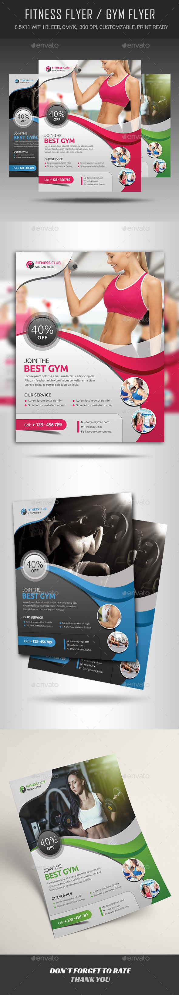 Fitness Flyer  Gym Brochures And Business Flyers
