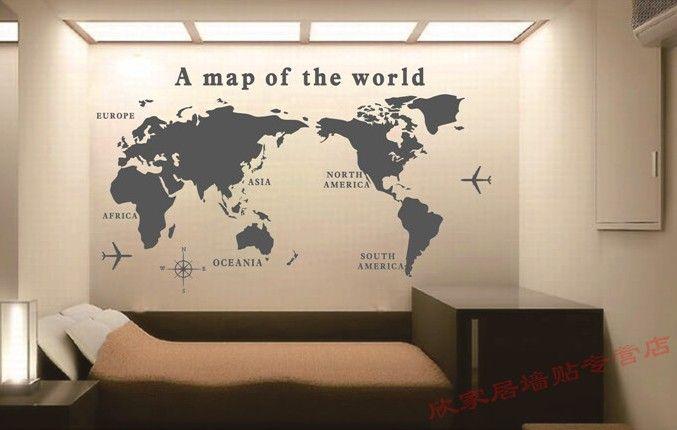 Le Bureau se félicite de la carte du monde de la maison de mur de