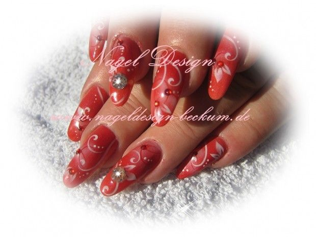 Acryl nails with airbrush