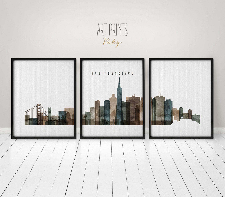 San Francisco Art Prints 3 Pieces
