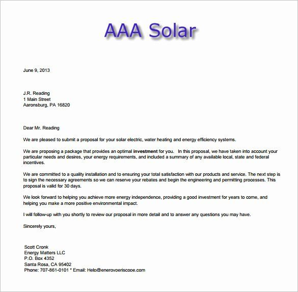 Free Sales Proposal Template In 2020 Proposal Letter Proposal