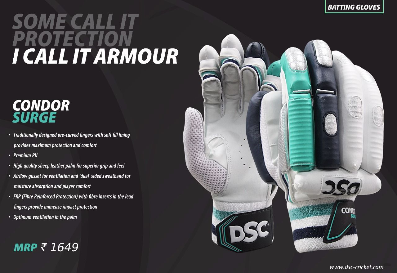Dsc Condor Surge Batting Gloves Contemporary And Light Weight And Made With The Best Materials For The Professional Players Batting Gloves Gloves Sweatband