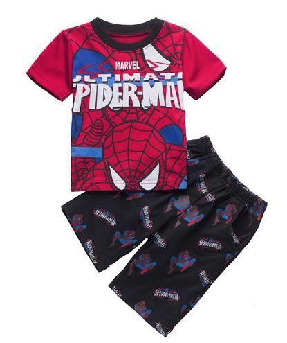 116a79be264 Click to Buy    Summer Boy Sleepwear Boys Superman Pajamas Children Cartoon  Spider-Man Pyjamas Kids Short Sleeve T-shirt+Short Pants Pijamas Set   Affiliate