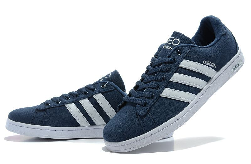 For Us Adidas Originals Campus Neo Canvas Casual Shoes Men Deep-Blue White  BOXING DAY