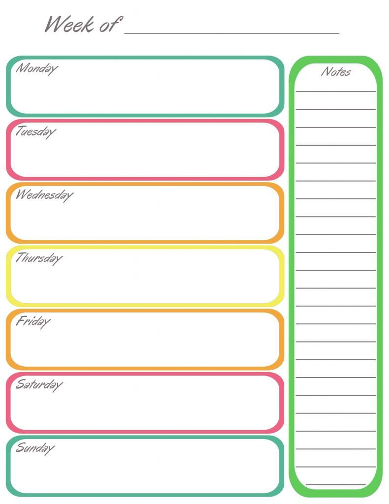 Great way to organize my thoughts and things to do love this – Free Printable Weekly Planner
