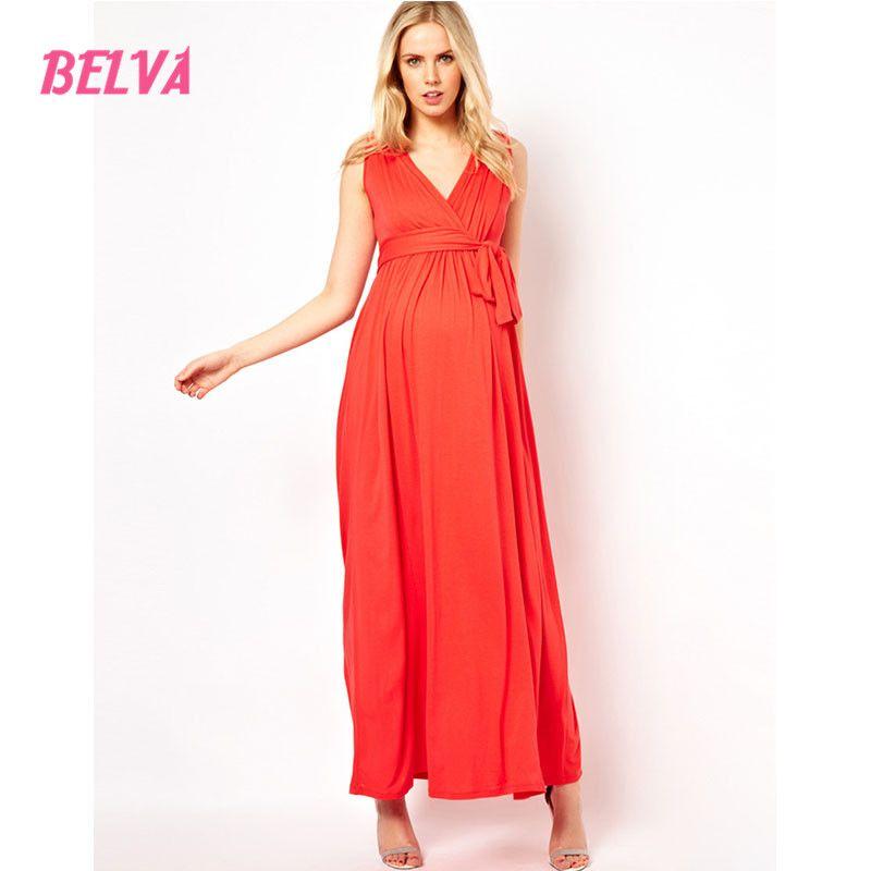 Belva 2017 Women's Soft Natural Bamboo Sleeveless Fiber Tunic pregnancy dress maternity clothes dresses for photo shoot 307086 |