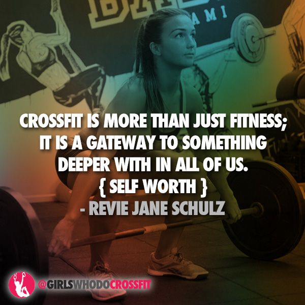 Inspirational Crossfit Quote from Revie Schulz - Fitness Inspiration - #quote #selflove #selfworth