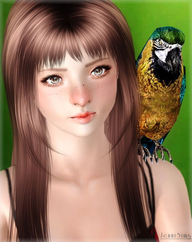 Bow and parrot accessories by JenniSims - Sims 3 Downloads