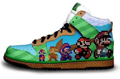 promo code 07cac 07d2a Mario Shoes! These are real cool. Still looking for somewhere to buy boys  Mario shoes.