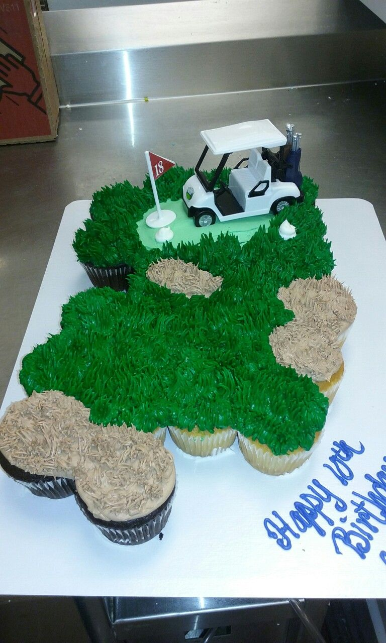 Golf themed cupcake pull apart cupcake pull apart Pinterest
