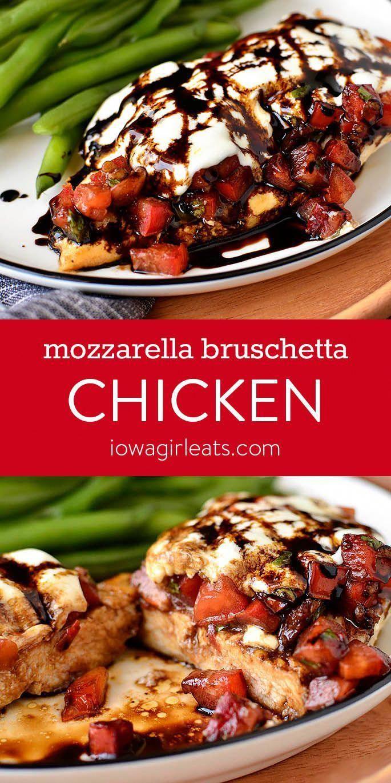 Mozzarella Bruschetta Chicken - Gluten Free Dinner Recipe