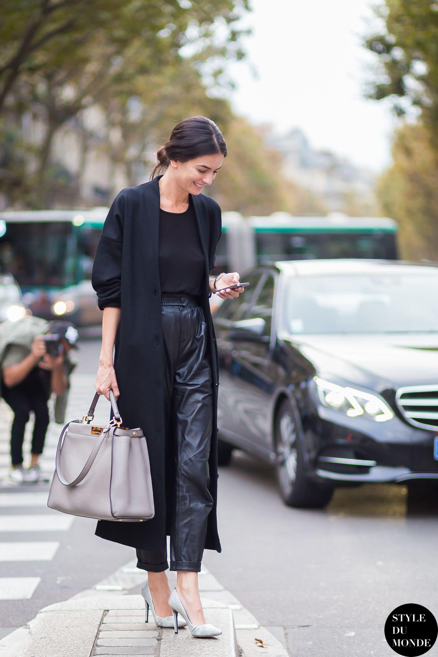 Paris FW SS15 Street Style: Leila Yavari (STYLE DU MONDE ...