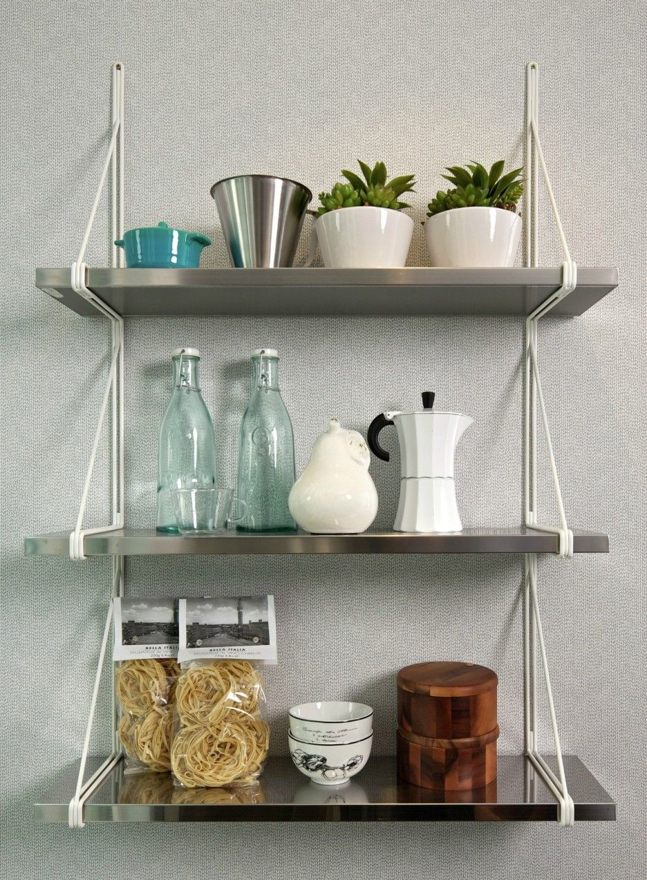 Wire Floating Wall Mounted Bookcase Shelves Unit Display Storage Rack Decor