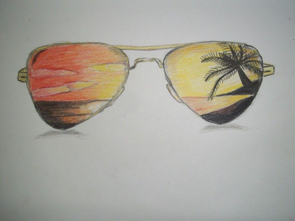 e76534f57f Color pencil drawing of ladscape scenery in glasses   goggles ...