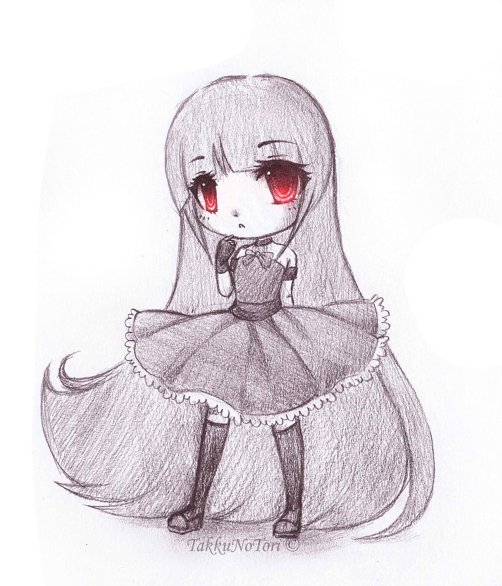 Animals For > Easy Anime Drawings In Pencil Chibi | Anime ...
