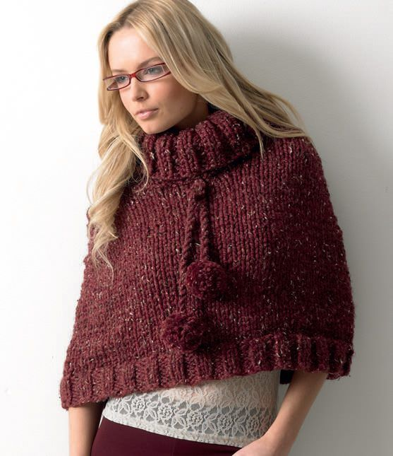 Mega Chunky Knitting Pattern for Adult Cable Poncho ...