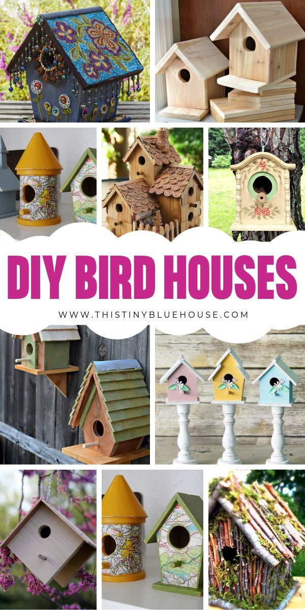 Ideas : Add one of these DIY Birdhouse Projects to your summer bucket list! Easy to make and perfect for any outdoor space these birdhouses are perfect for summer. #DIYBirdHouses #DIYBirdHousesForKids #DIYBirdHousesEasy #DIYBirdHousesUpcycle #DIYBirdHousesWooden #DIYBirdHousesIDeas
