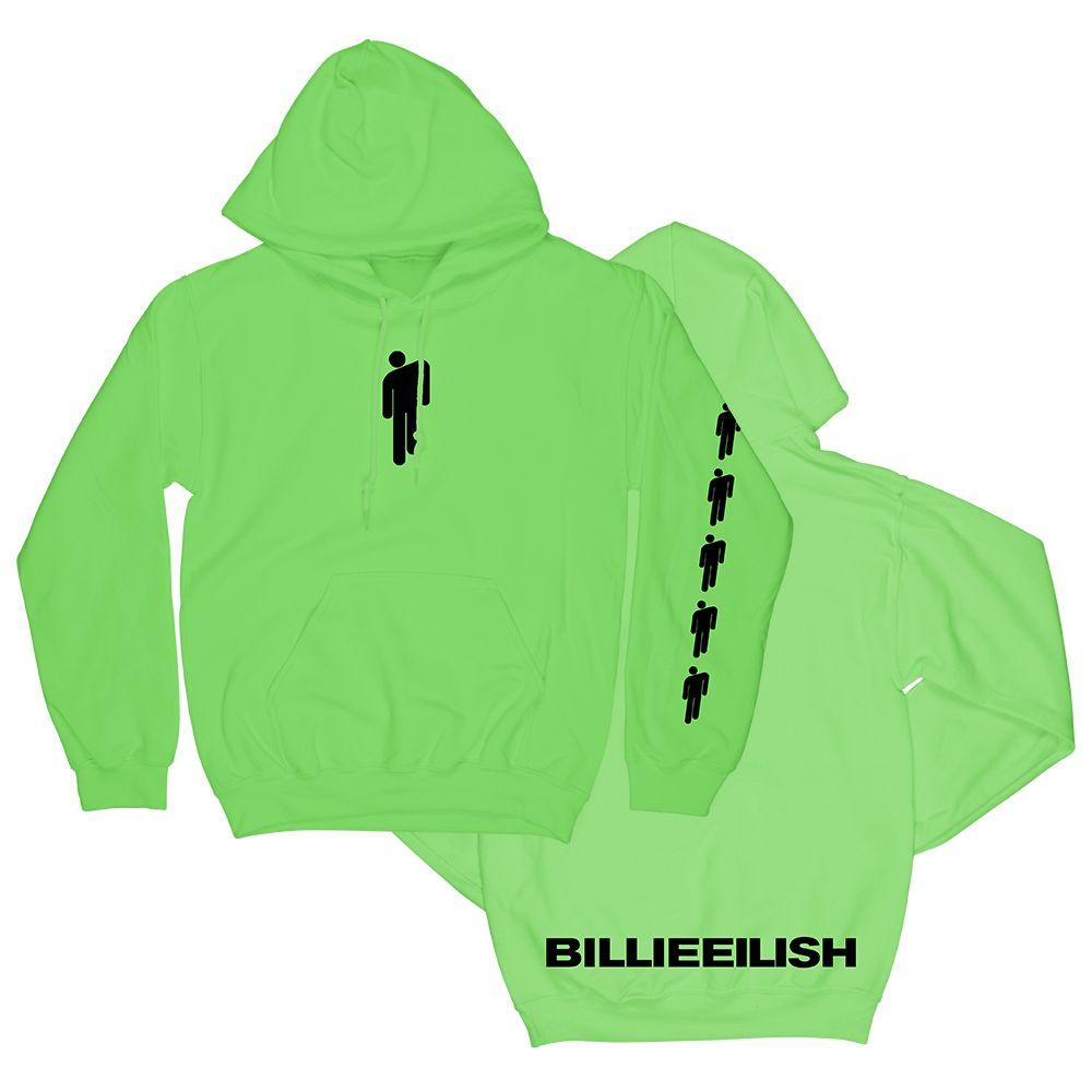 Neon Green Hoodie   Billie eilish merch, Sweatshirts, Green
