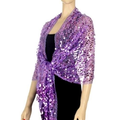 337d2a9d7212a Lavender Long Glamorous Sequin Shoulder Shawl Wrap Luxury Divas. $29.99.  Extremely versatile, use this as an evening shawl, a beach sarong wrap, ...