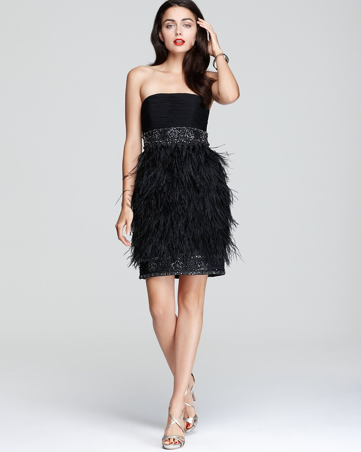 551f611202 Sue Wong Strapless Feather Dress (Bloomingdale s)