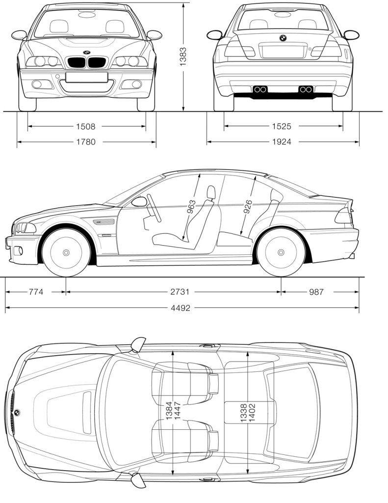 Bmw E46 Blueprint Blueprints Bmw Bmw Series