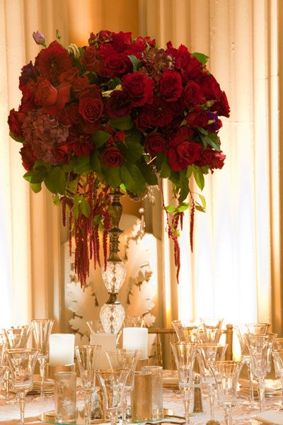 Hot New Wedding Trends | Champagne, Tall wedding centerpieces and Rose