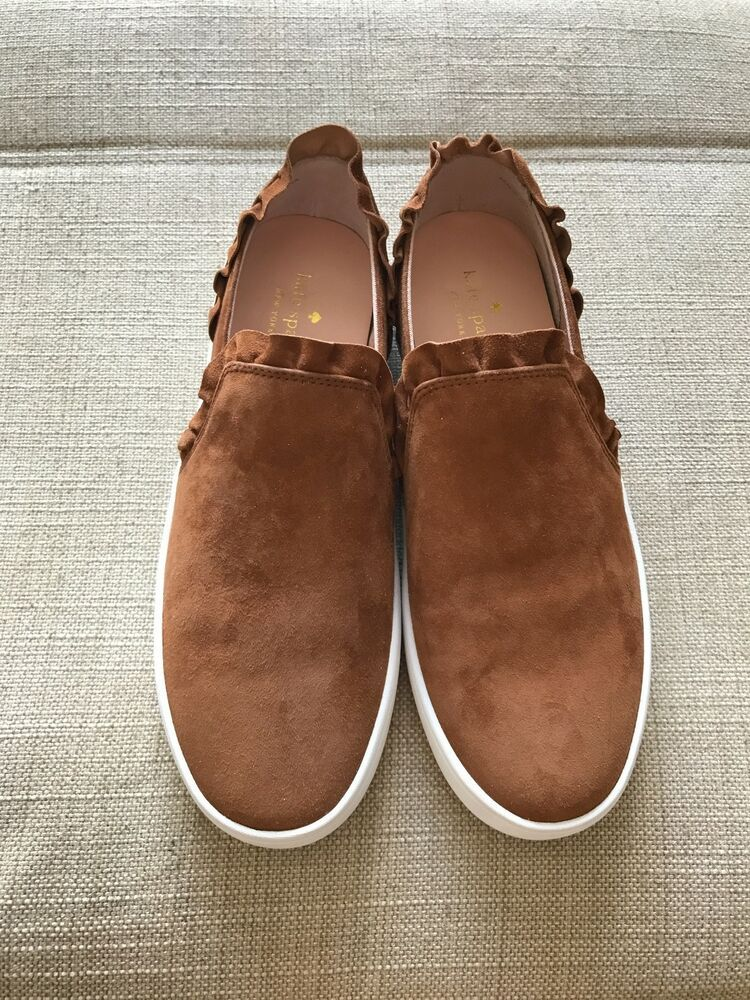 5a4c794f6fb2 WOMEN KATE SPADE LILLY RUFFLE SLIP ON SNEAKER. SIZE 9 SUEDE BROWN  fashion   clothing  shoes  accessories  womensshoes  flats (ebay link)