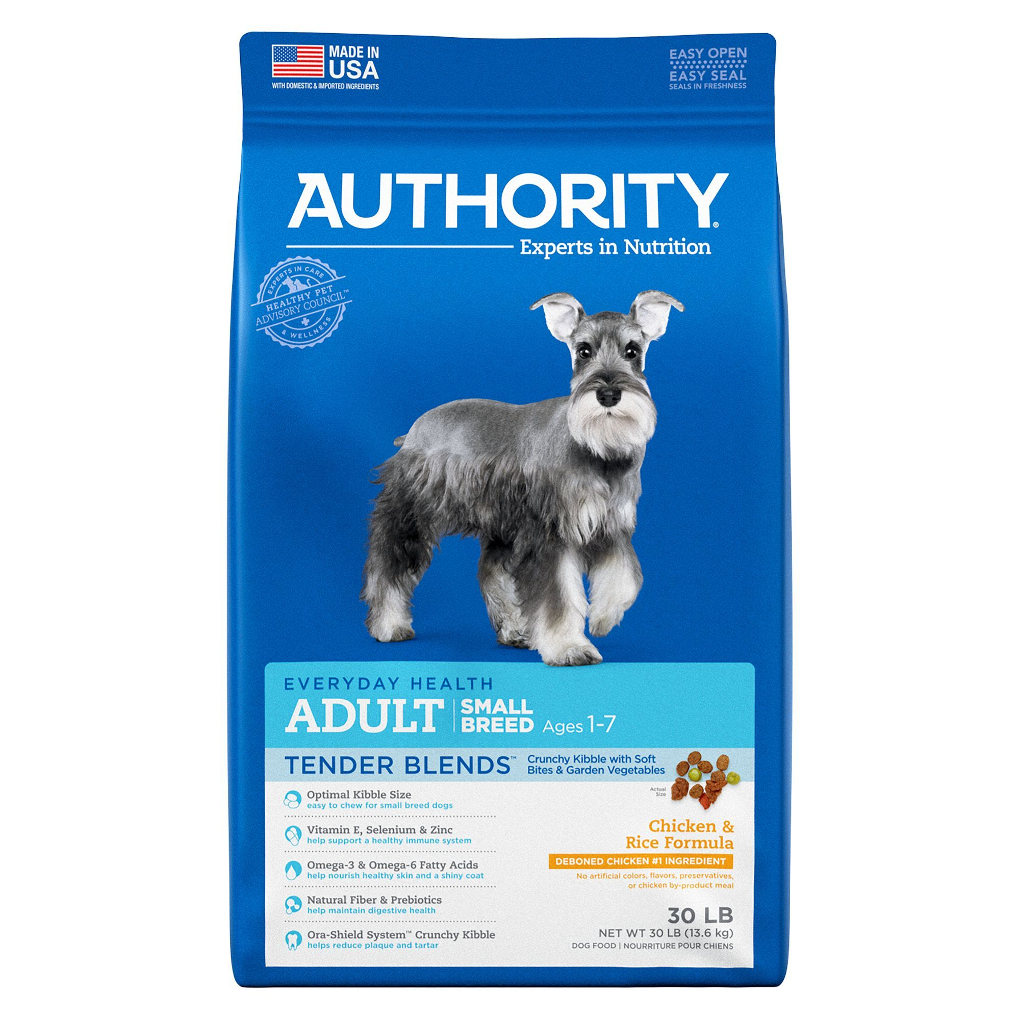 Authority Tender Blends Small Breed Adult Dog Food - Chicken & Rice