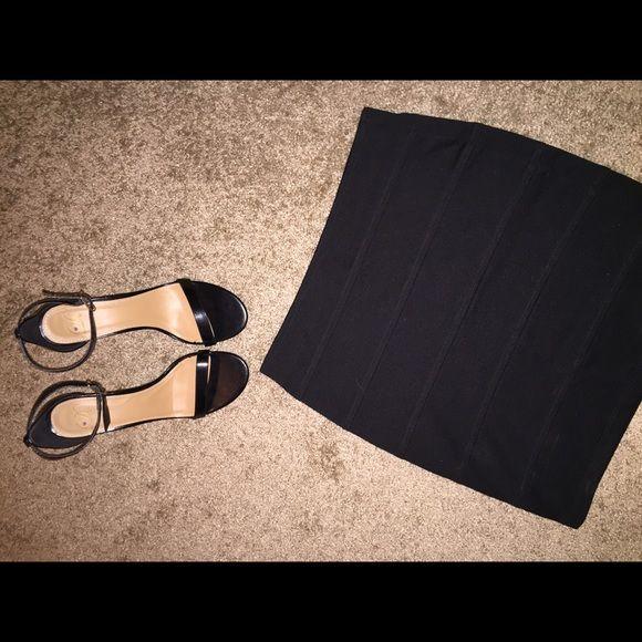 Forever21 black bandage skirt Bandage fit, softer cotton material, never worn! Forever 21 Skirts Mini
