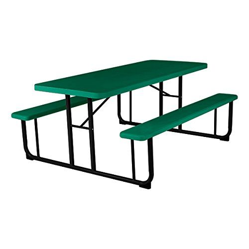 Norwood Commercial Furniture Blow Molded Plastic Picnic Table - Picnic table specs