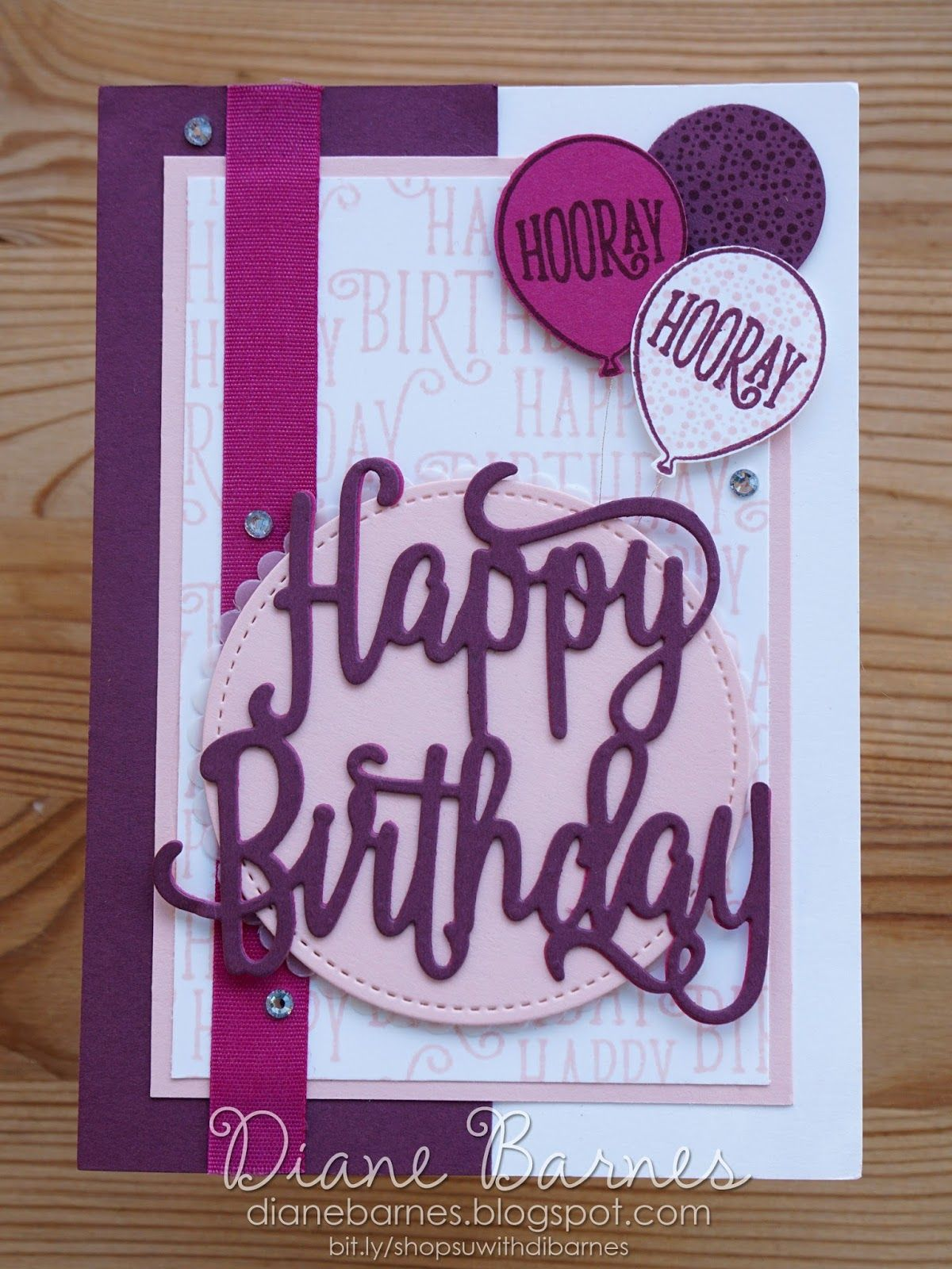 Handmade birthday card using stampin up happy birthday gorgeous