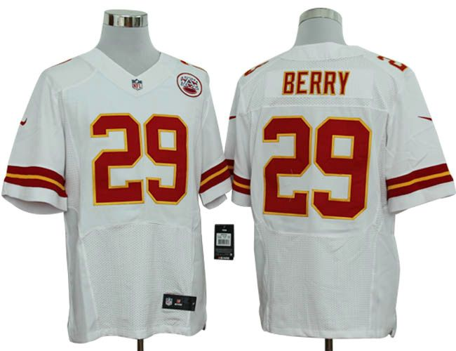 0235780ac Men s NFL Kansas City Chiefs  29 Eric Berry White Elite Jersey