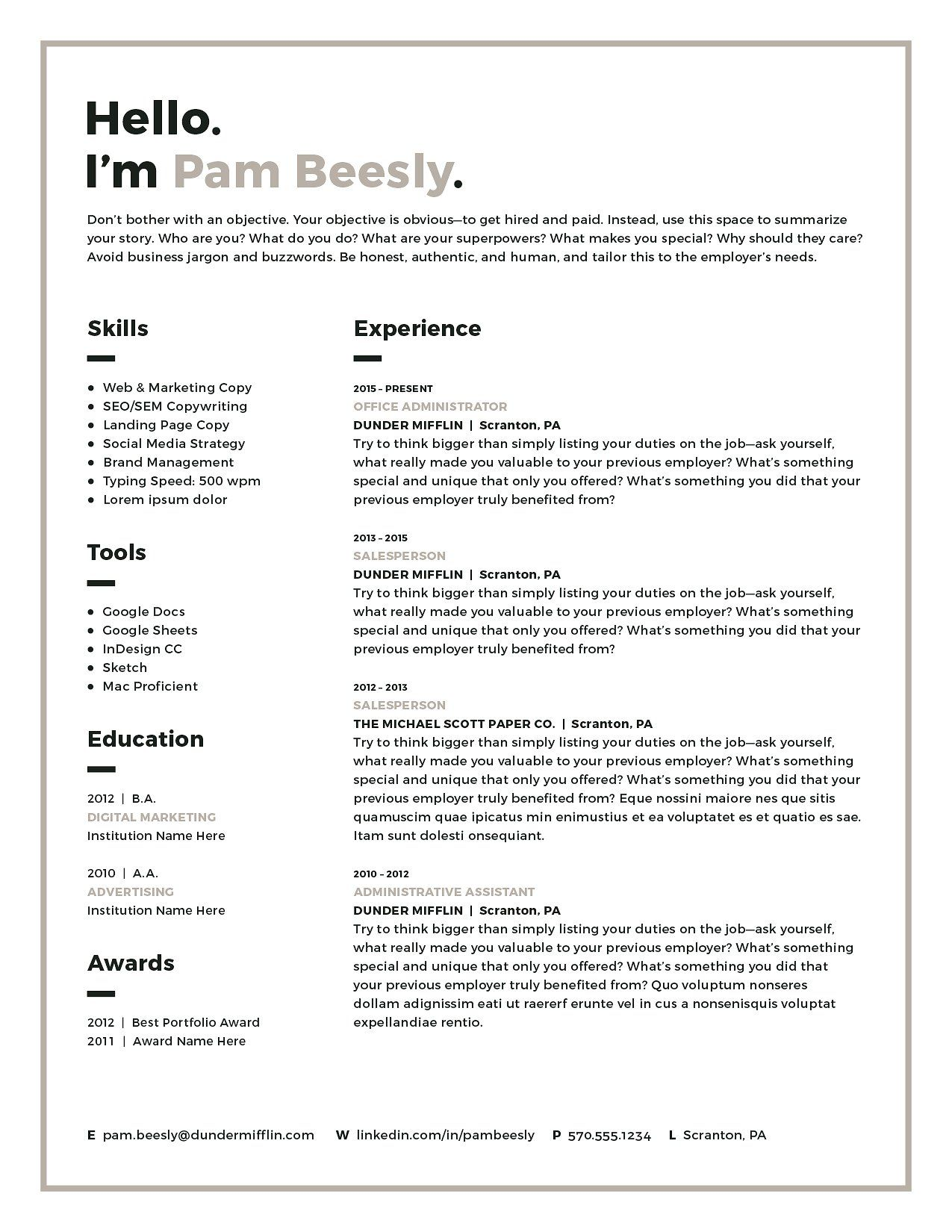 How To Do A Resume Example Fair Resume Template Cv Kit  Template