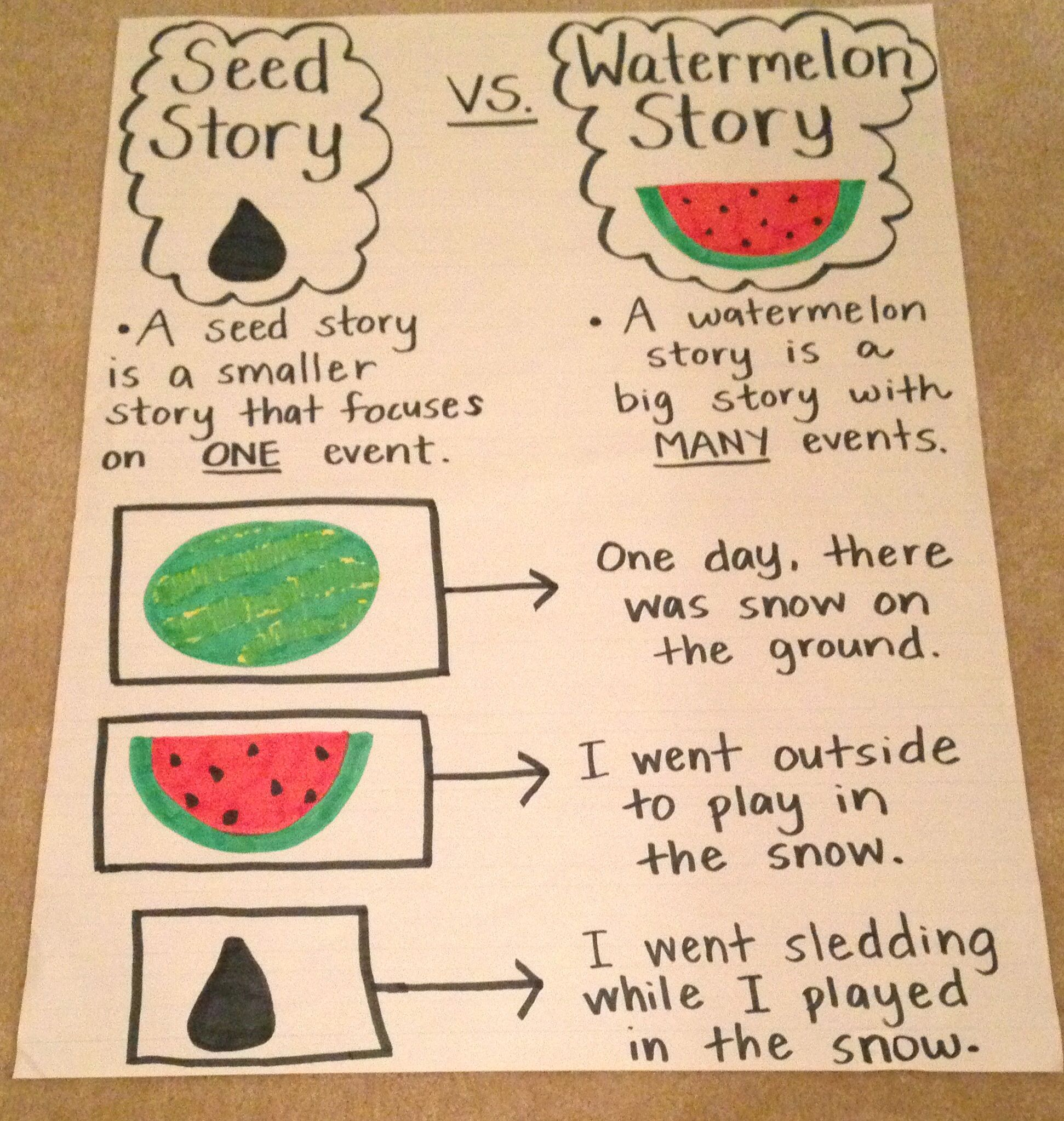 Seed Story Anchor Chart